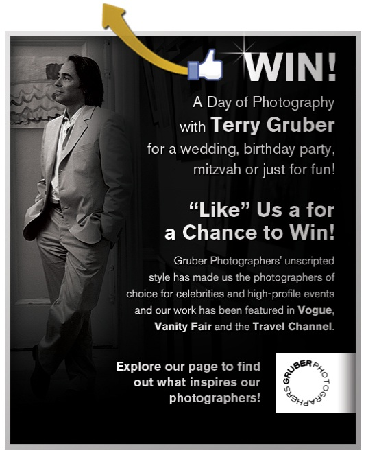 Win a day of luxury photography with Terry Gruber! Facebook contest