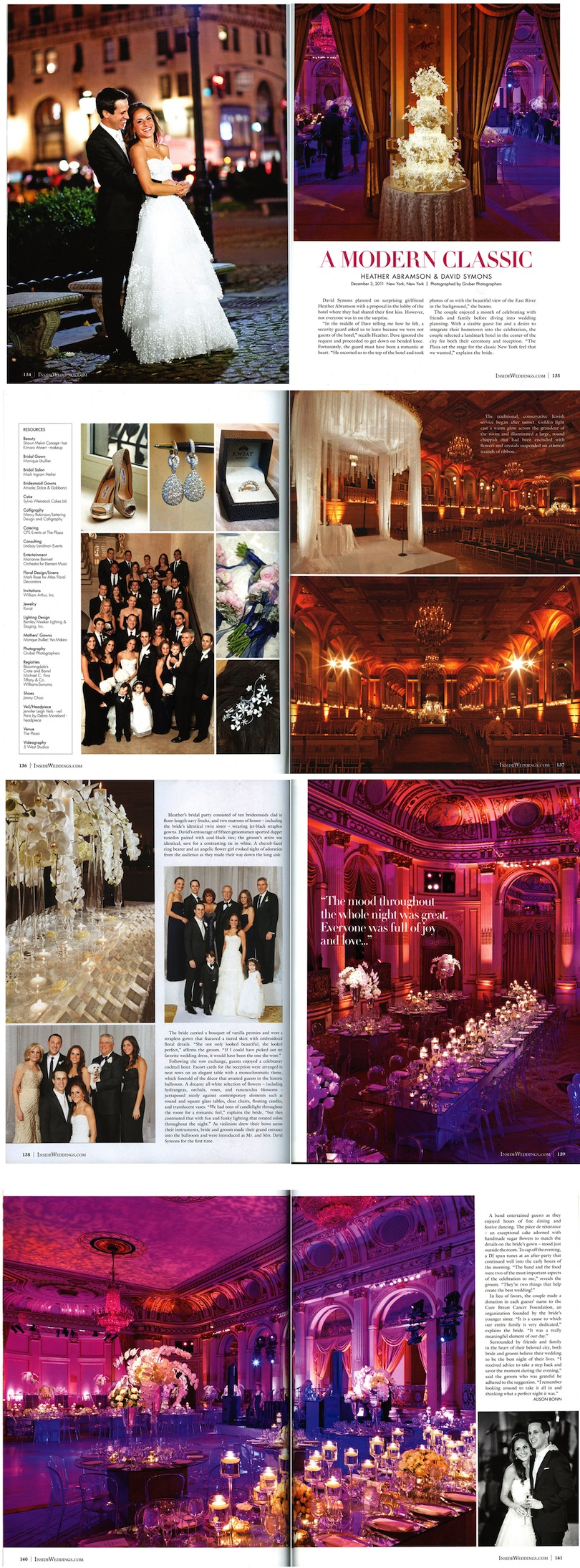 Gruber Photographers featured in Inside Weddings