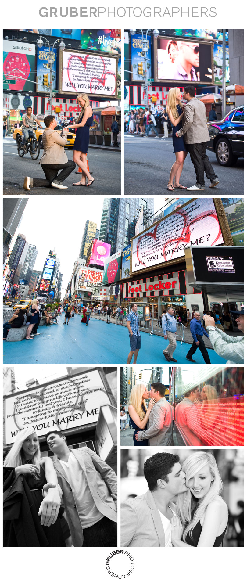 Secret Engagement Photoshoot in Times Square