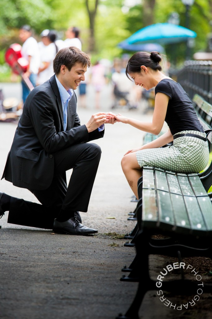 On One Knee in Central Park