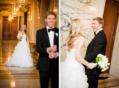 Groom Reacts to Seeing Bride