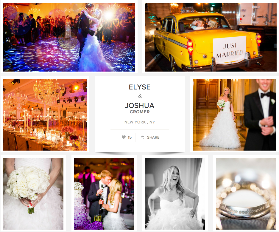 Carats and Cake Feature Elyse and Josh Cromers Wedding