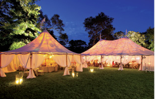 Wedding tent in the Hamptons
