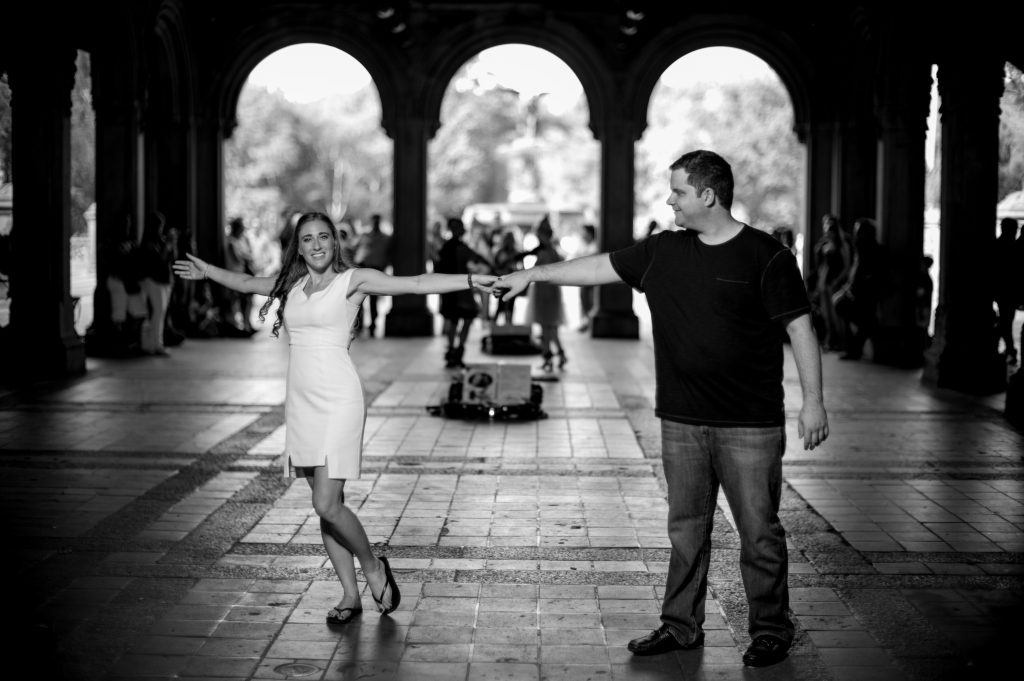 An engagement shoot in Central Park