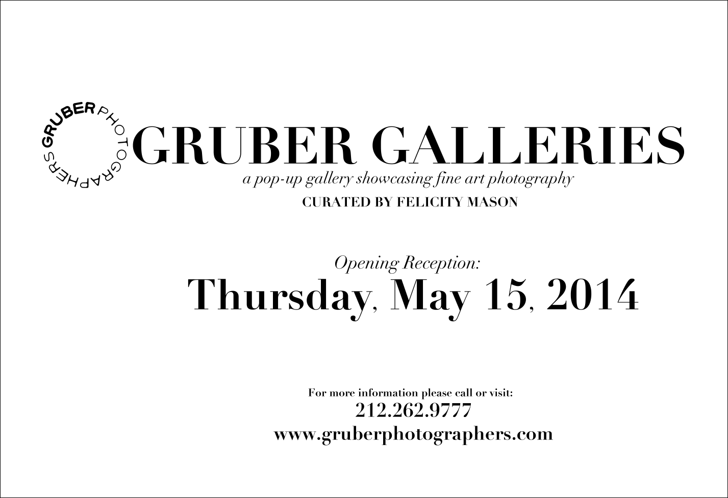Gruber Galleries Advertismenet