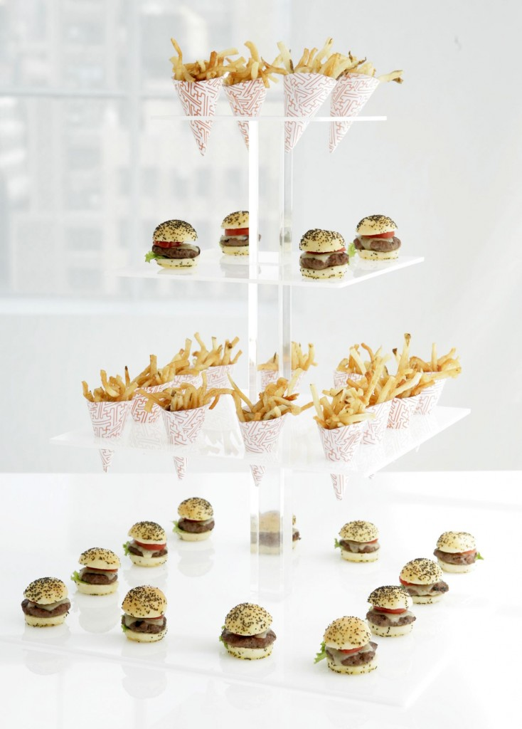 Mini Burgers and Fries