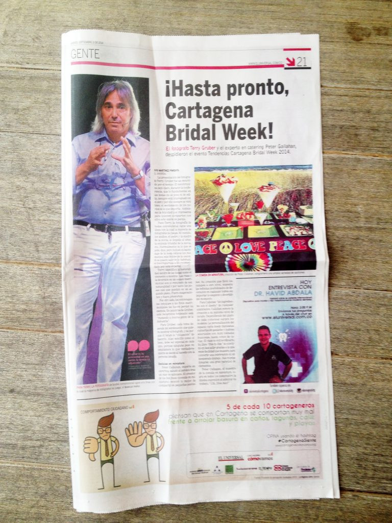 Terry Gruber in Colombian Newspaper