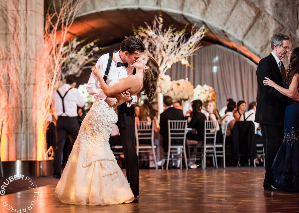 Couple Embraces during 1st Dance