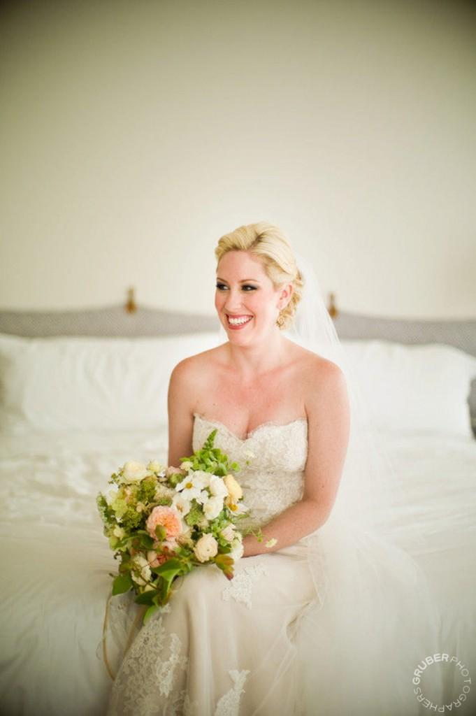 Bride wearing Ines Di Santo wedding dress