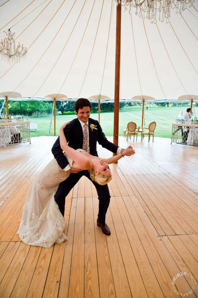 Upstate New York Wedding featuring bride and grooms dance