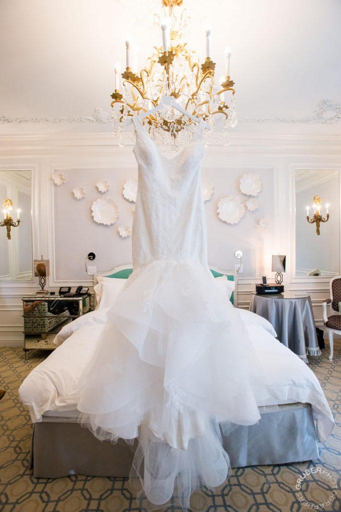 Wedding dress by Monique Lhuillier