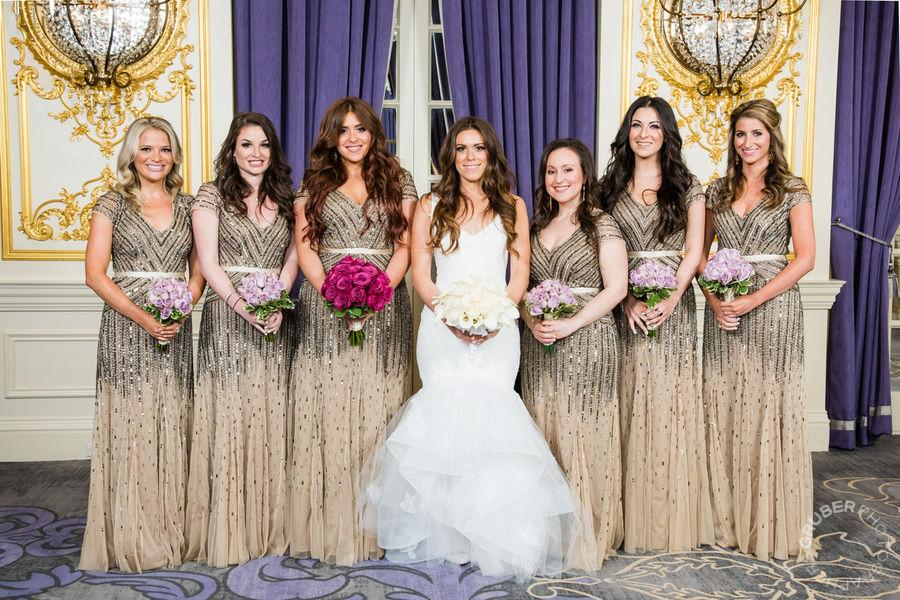 Bridesmaid dresses by Adrianna Papell purchased at Bella Bridesmaids