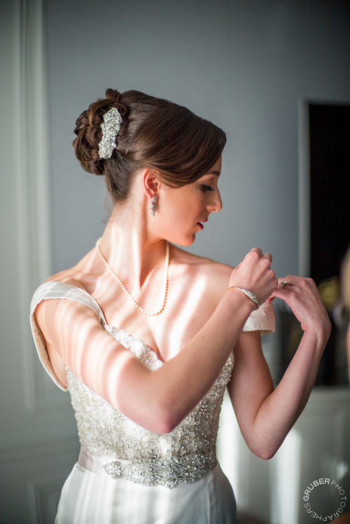 Bride getting ready before her big day