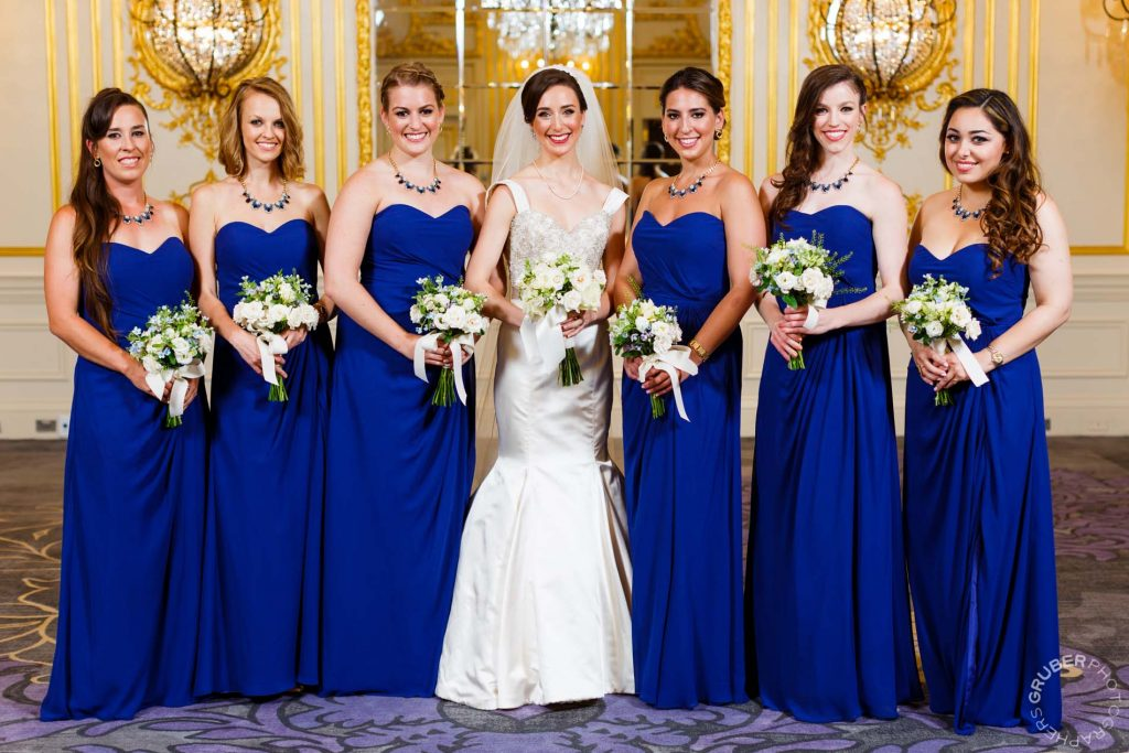 Bride with her Bridesmaids at The St Regis Hotel