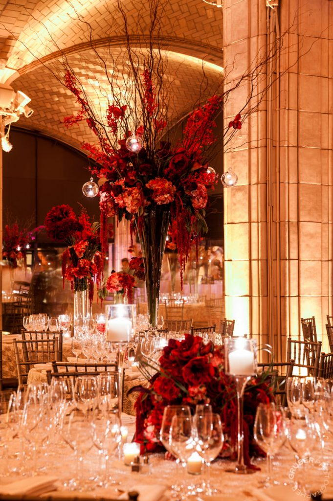Metro Floral Designs at a luxury wedding in NYC