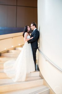 Bride and Groom First Look at Luxury Wedding in NYC