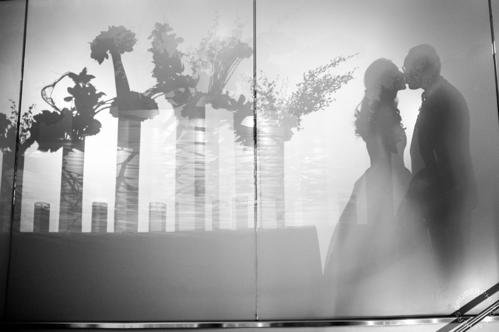 Luxury Wedding Bride and Groom silhouette