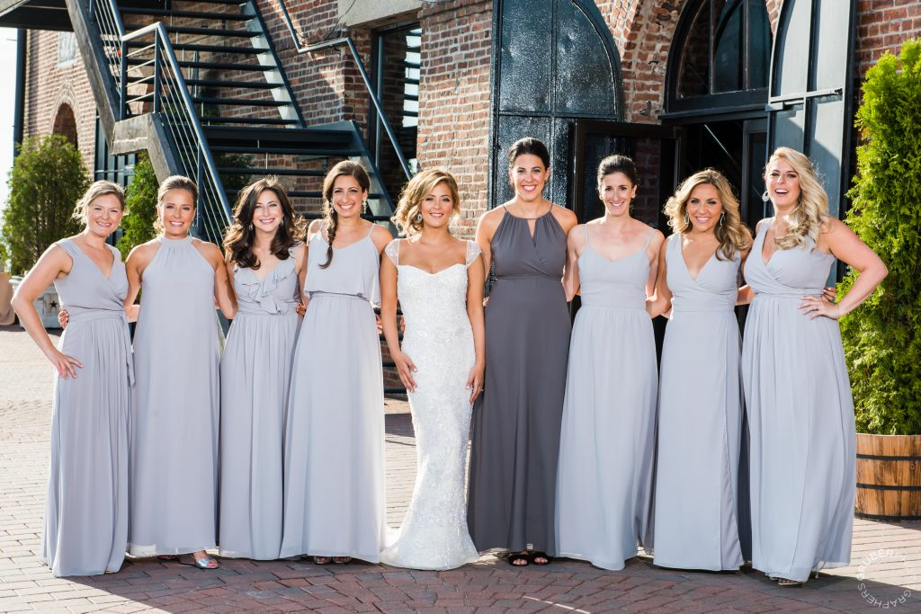 NYC Luxury Wedding Bridal Party