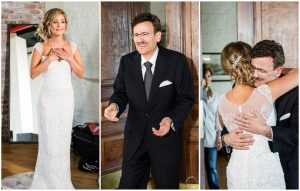 Luxury Wedding Father and Daughter First Look