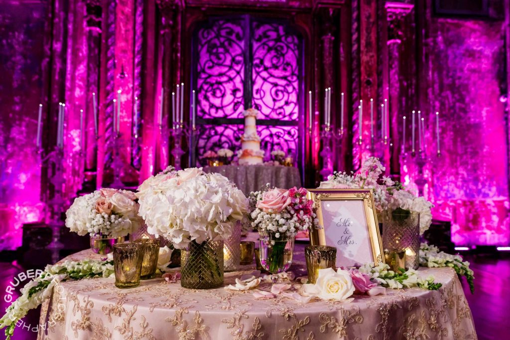 A table for the bride and groom