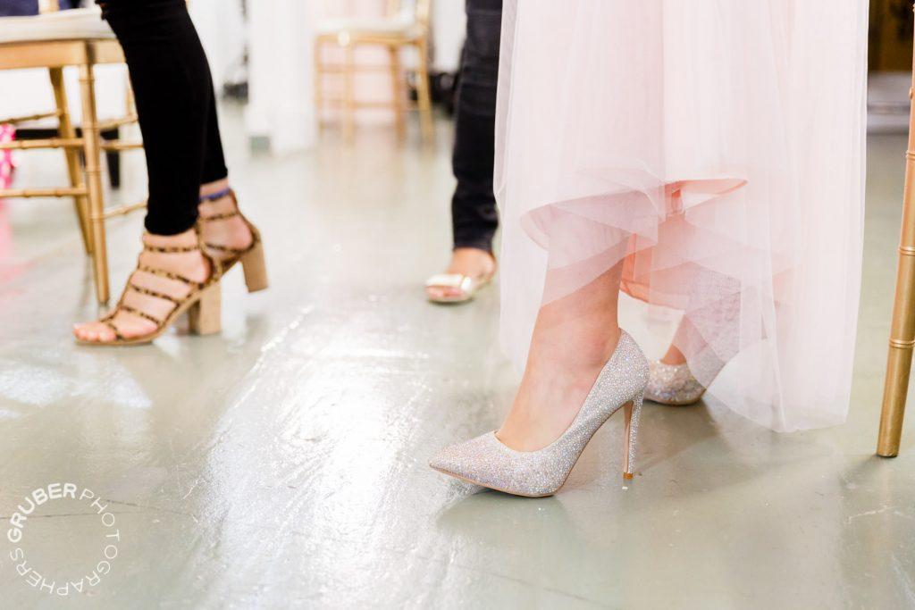 Shoes that shine like a glass slipper