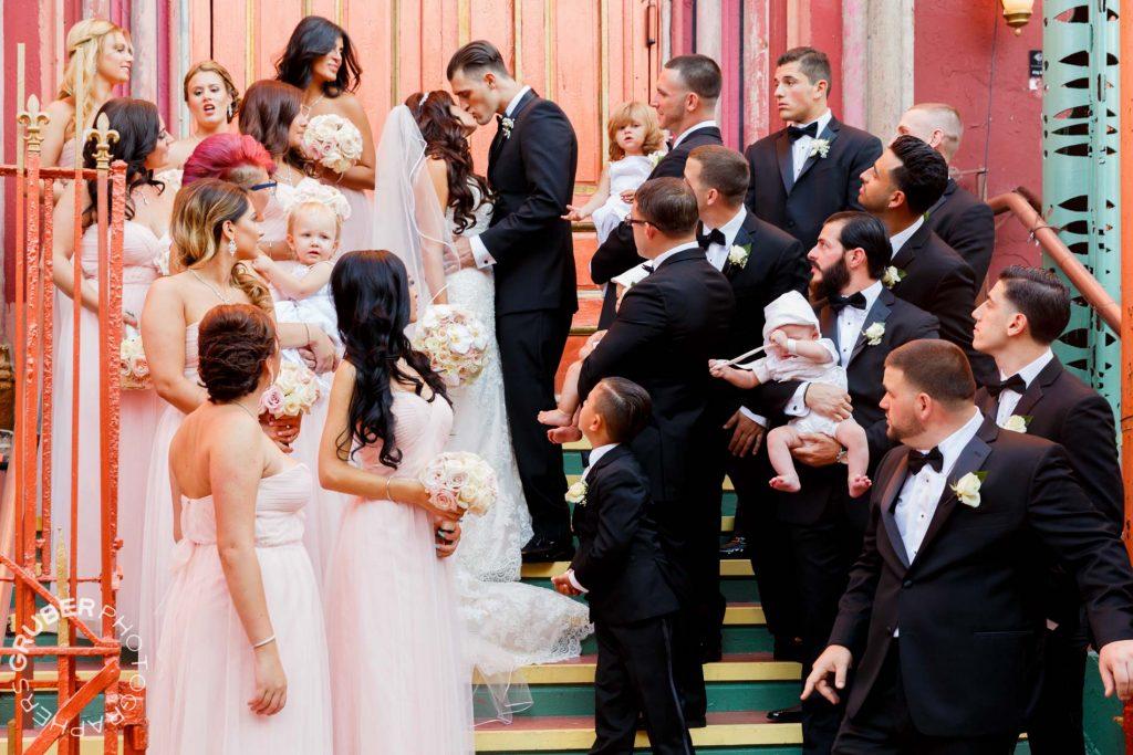 The glamorous wedding party