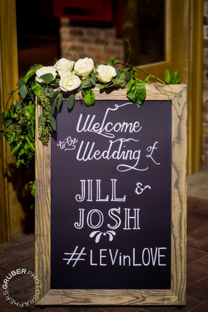 A warm welcome with the Levin wedding's signature hashtag