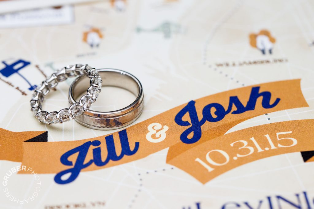 Gorgeous rings marking the big day