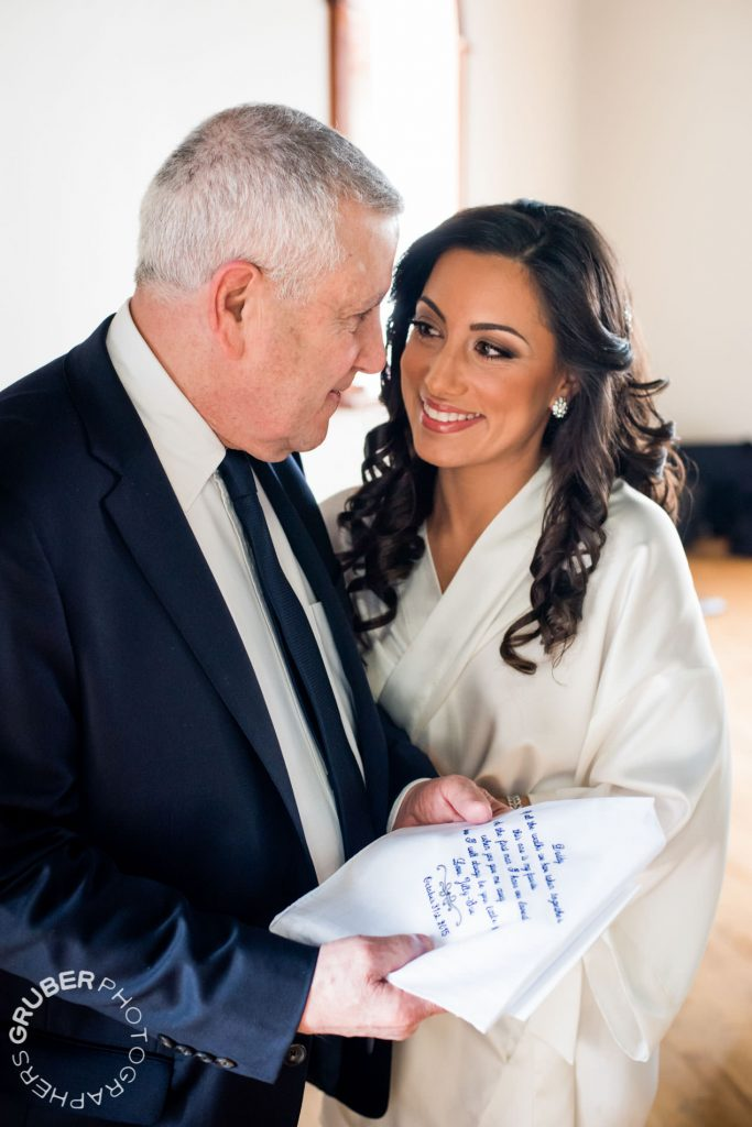 A lovely moment between the bride and her father