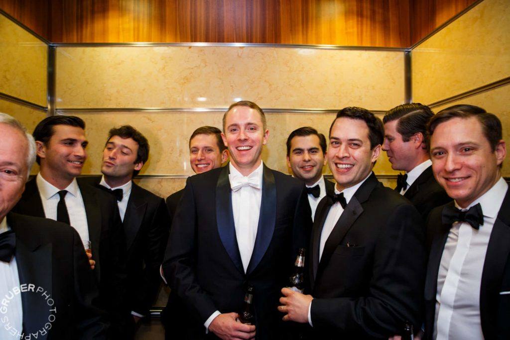 The handsome groom and groomsmen
