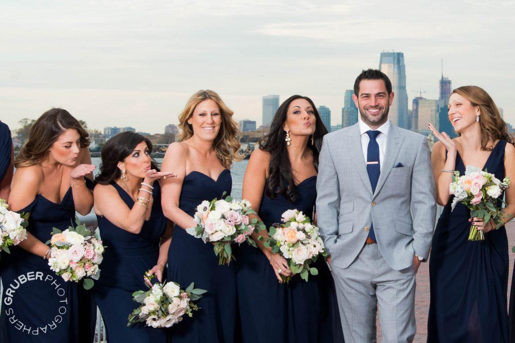 The bridesmaids sending some love to Josh