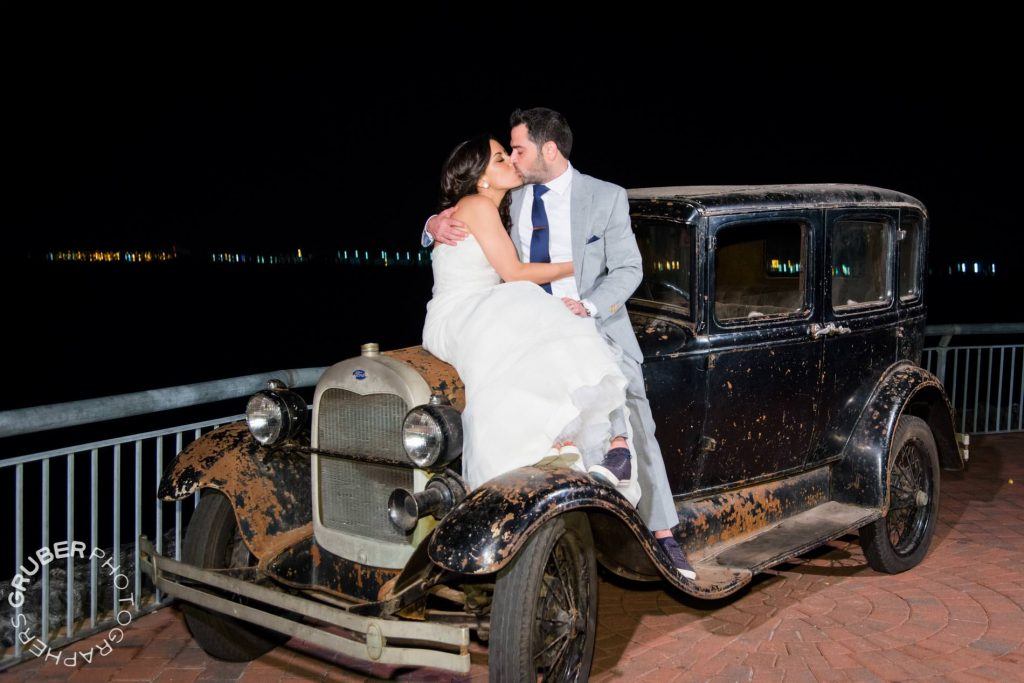 Driving off as Mr. and Mrs. Levin