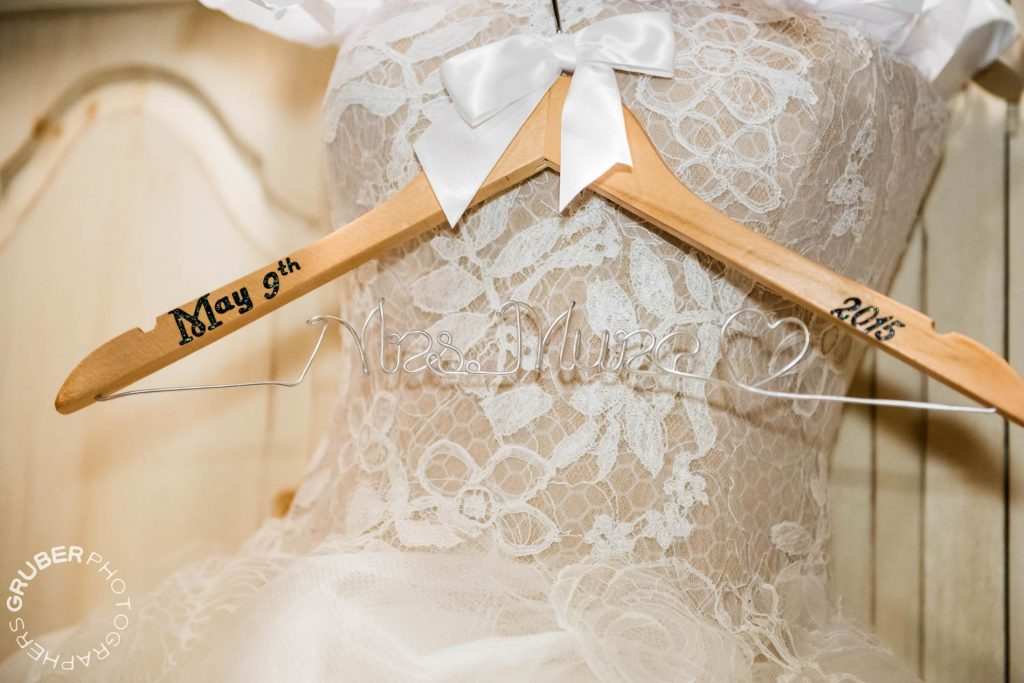 A wedding dress hanger for the soon to be Mrs. Mure