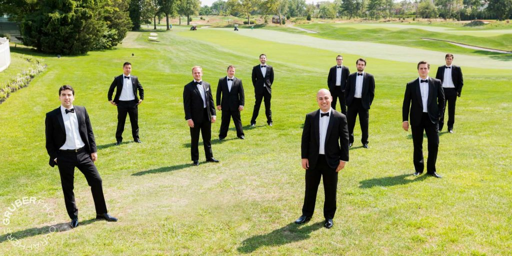 The handsome groom and groomsmen