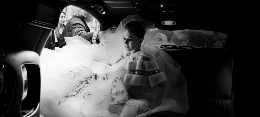 Entering her chariot - Terry Gruber, Wedding Photographer