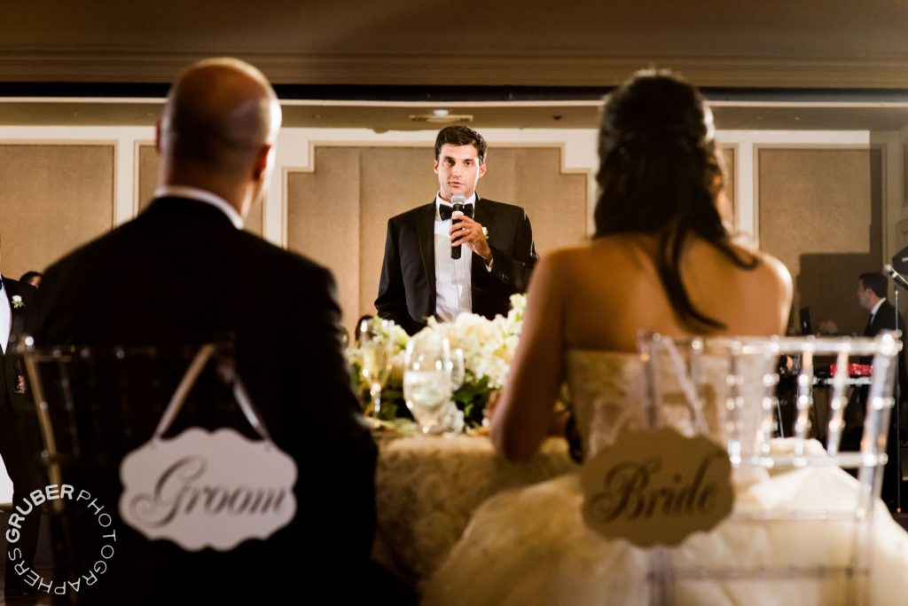 Speeches in honor of the bride and groom