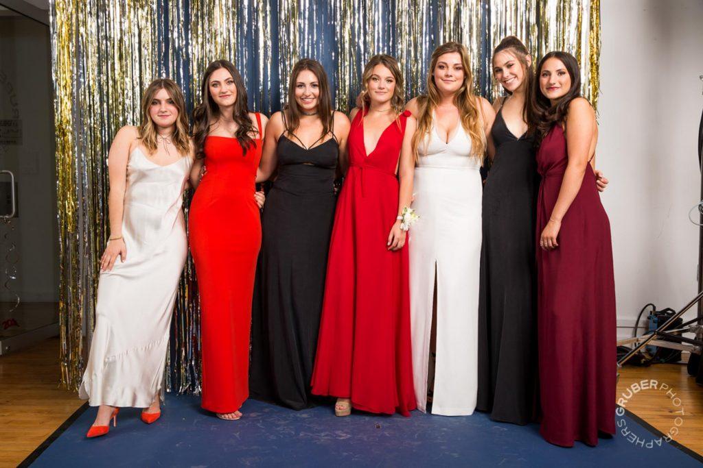 Beautiful Ladies in their Prom Dresses