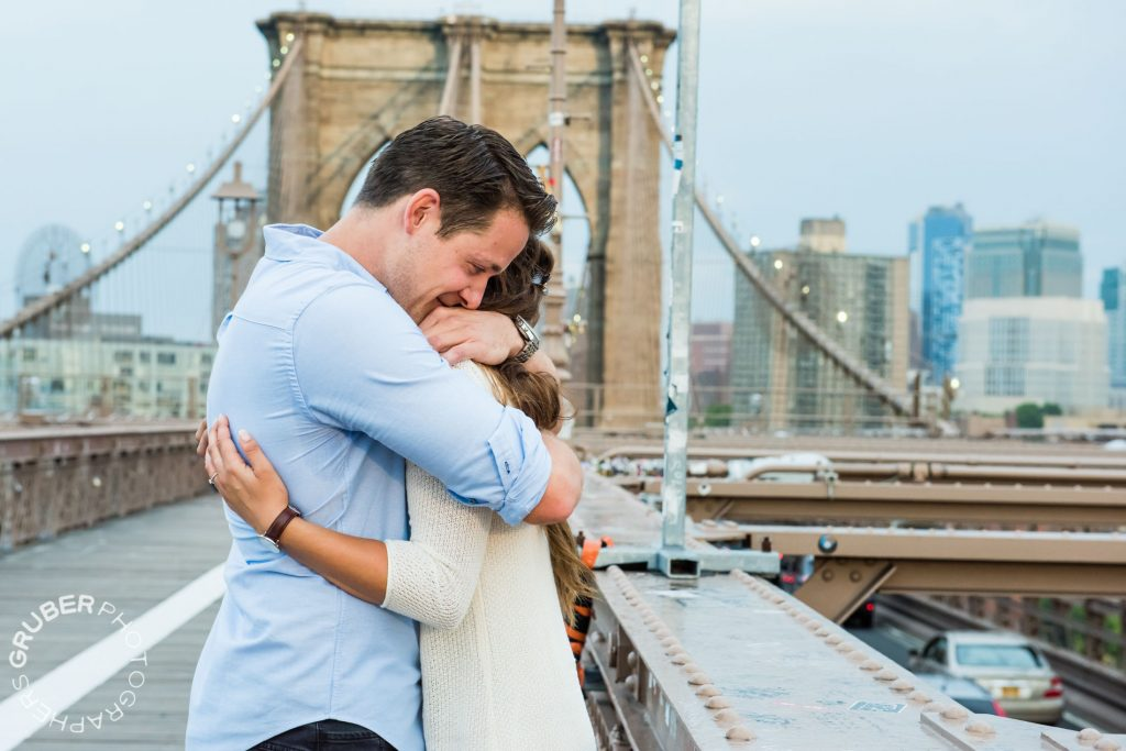 Couple Embracing after Proposal