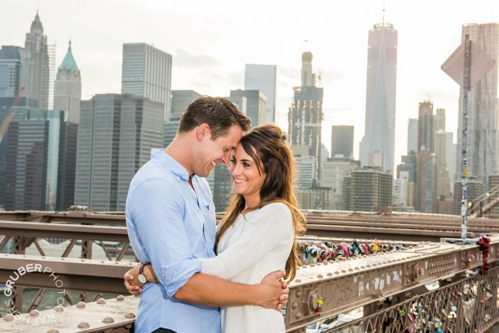 Loving Couple on the Brooklyn Bridge