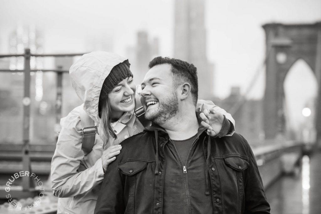 Newly Engaged Couple Lock Eyes