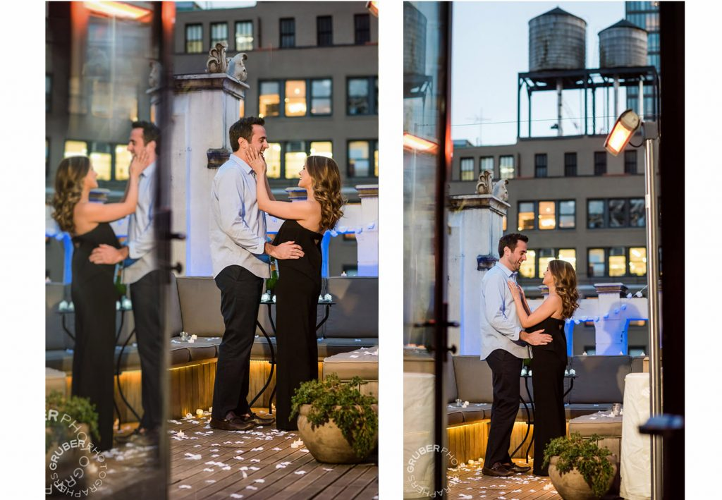Loving Couple on Private Terrace