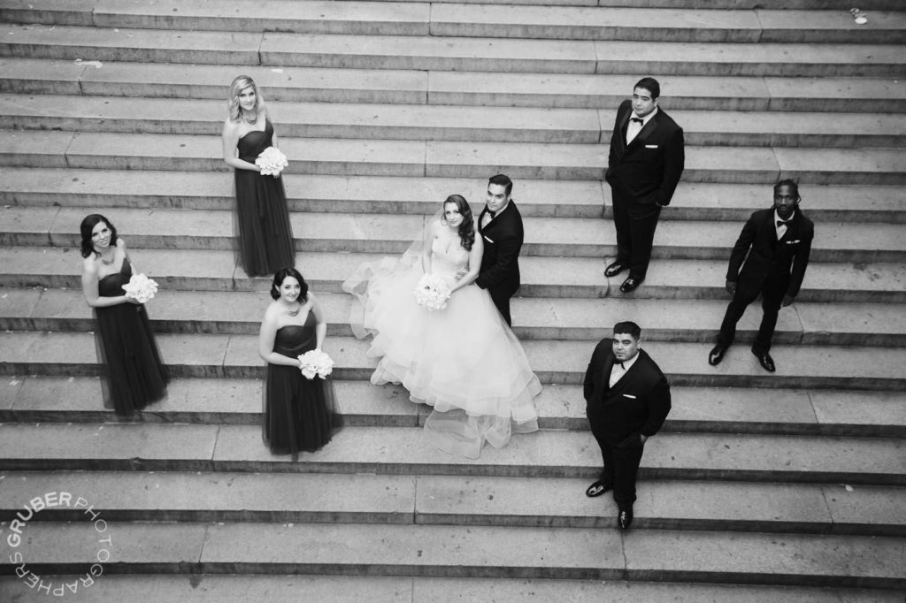 Aerial Photo of Wedding Party