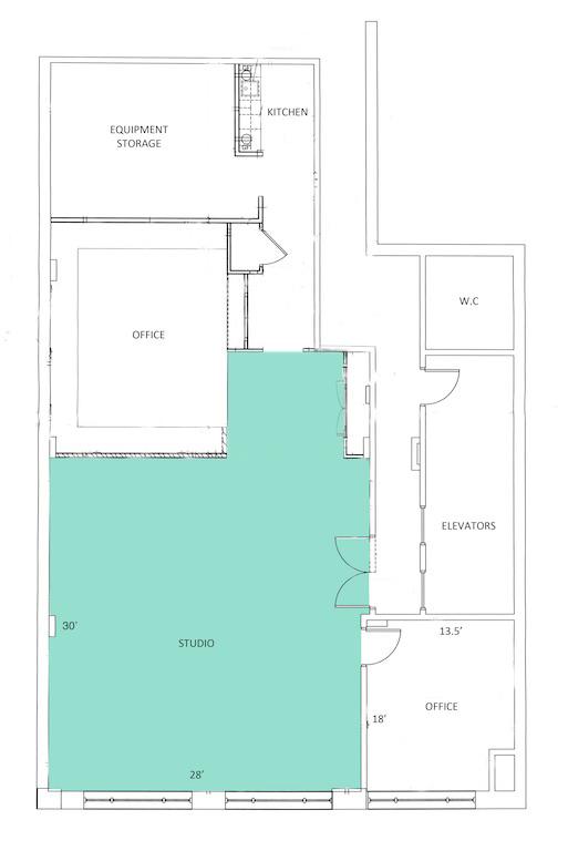 NYC Studio Floor Plan