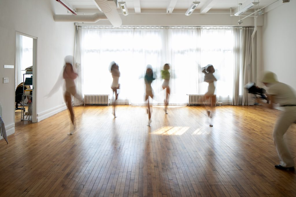 Dancers being Photographed in our Studio